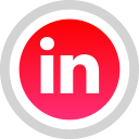 linkedin, social, logo, media icon