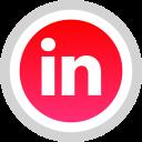 linkedin, social, logo, media icon