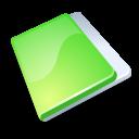Close, Folder, Green icon
