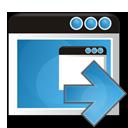 application, arrow, right icon