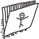 folder, drawings icon