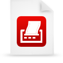 file, paper, document, red icon