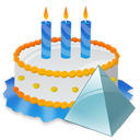 Birthday, Cake, Pyramid icon
