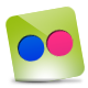 Flickr, Green, Hover icon