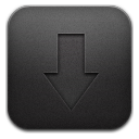 Downloads black icon