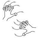 two, hand, rotate, gestureworks icon