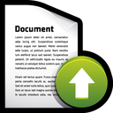 upload, document, export icon