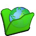 green, folder, internet icon