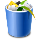 trash, full, recycle bin icon