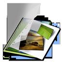 mes, vert, photos icon