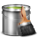 paint, painting, bucket, green icon