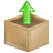 upload, box icon