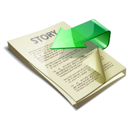story, submit icon