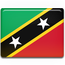 and, kitts, nevis, flag, country, saint icon