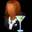 Bartender, Dark, Female icon