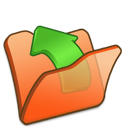 parent, folder, orange icon