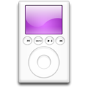 mp3 player, purple, ipod icon
