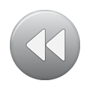grey, rew, button icon