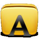 fonts, folder icon