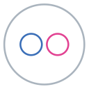 neon, social, images, flickr, line, circles, flag icon