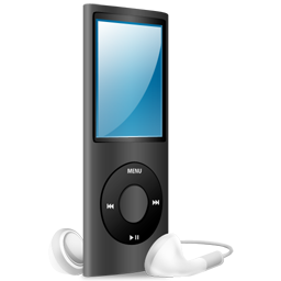 ipod, nano, black icon