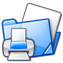 printer, print, folder icon