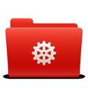 folder, red, system, new, soda icon