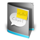 chat,folder,talk icon