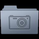 Folder, Graphite, Pictures icon