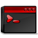 Black, Dos, Red icon