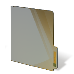 closed, brown, folder icon