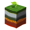 layers, soil, earth, grass icon