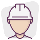 account, manager, builder, construction, profile, professional, worker icon