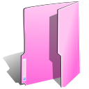 pink, folder icon