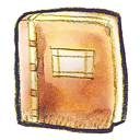 orange, book icon