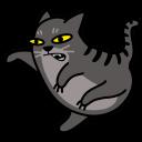 cat fight icon
