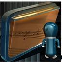 folder, music, shared, my icon