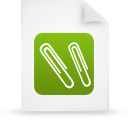 paper, green, document, file icon