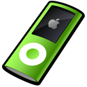 nano, green, ipod icon
