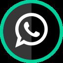 media, whatsapp, logo, online, social icon