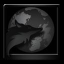 Black, Firefox icon