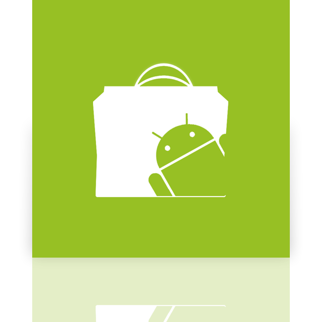mirror, market, android icon