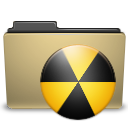 manilla, folder, burn icon