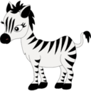 zebra,animal icon