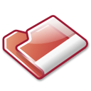 red, folder icon