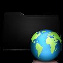 black, web, folder icon