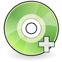 save, disk, plus, disc, dev, gnome, add, dvdr icon