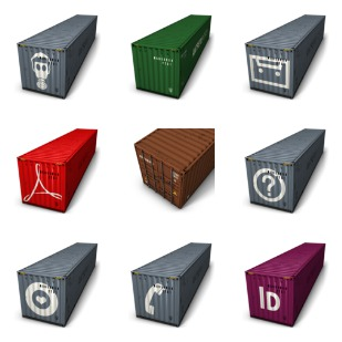 Container icon sets preview
