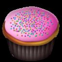 pink,cupcake icon