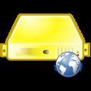 server,web,yellow icon